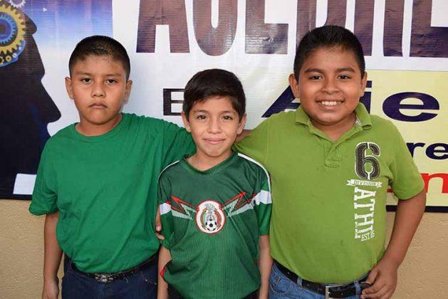 Carlos López, Ian Álvarez, Jared Ancheyta.