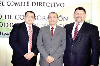 Luis Méndez, vicepresidente; Renato de León, Secretaría de Finanzas; Manuel Martínez, Desarrollo Social.