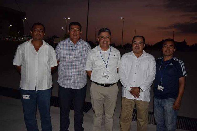 Luis Gordillo, Eduardo Romay, Abraham Córdova, Jorge de León, Conrado López.