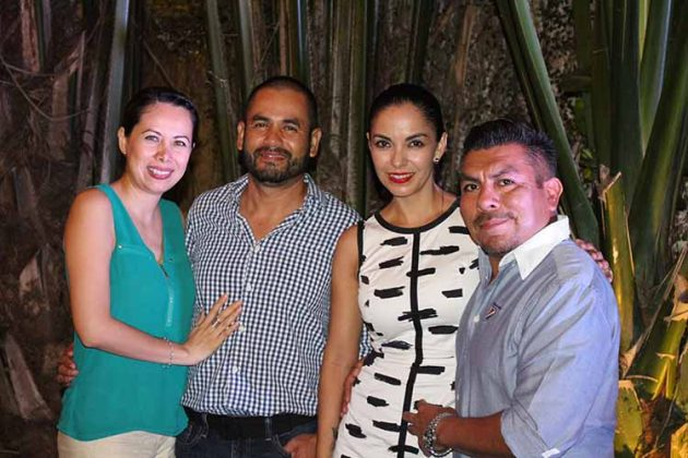 Brenda Gerardo, Rafael Meneses, Magda Montiel, Julián Camarillo.