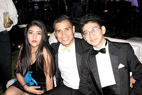 Vanesa Guizar, Lisandro López, Daniel Sandoval.