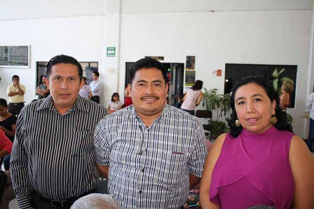 Fernhelly Suárez, Carlos Citalán, Blanca Tomasini.