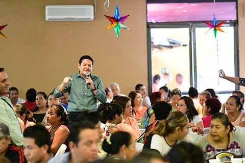 Celebra Diputado EZM Posada Navideña con Verdes de Tapachula