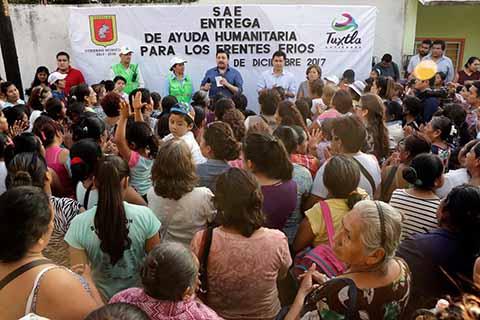 Entrega Fernando Castellanos Ayuda Humanitaria Para Temporada Invernal