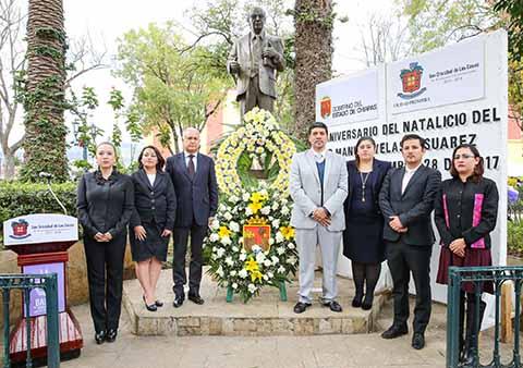 Conmemoran 103 Aniversario del Natalicio de Manuel Velasco Suárez