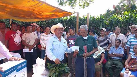 Benefician a Productores de Café con Paquetes Agrícolas