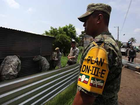 Plan DN-III-E en Tabasco y Chiapas por Frente Frío