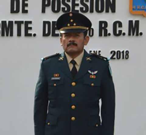 Jaime Contreras Nuevo Mando del 4º. Regimiento de Caballería