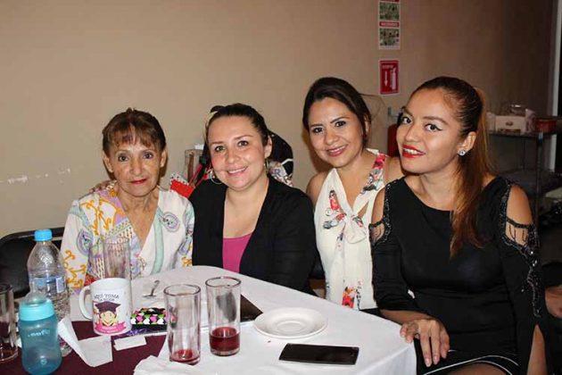 Elvira Coutiño, Ana Rendón, Rocío Faviel, Viridiana Palacios.