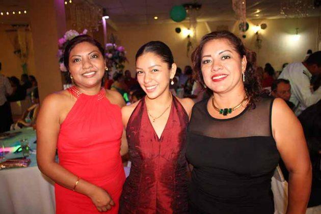 Alida Pérez, Ximena Aquino, Paty Galindo.