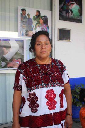 María Pérez, Habitante Municipio de Chalchihuitán.