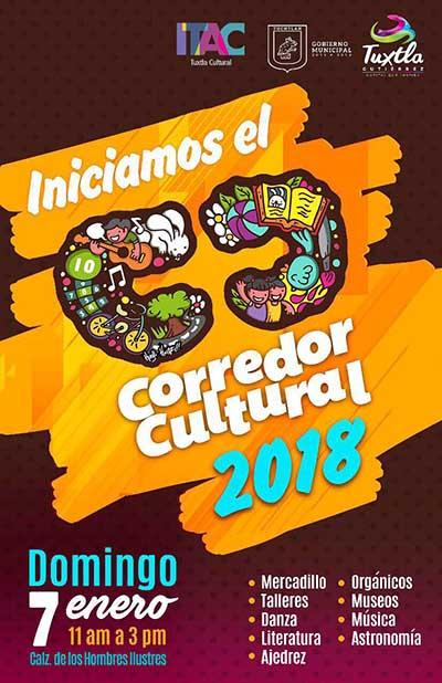 Anuncia Ayuntamiento de Tuxtla Actividades Culturales por Inicio de Año