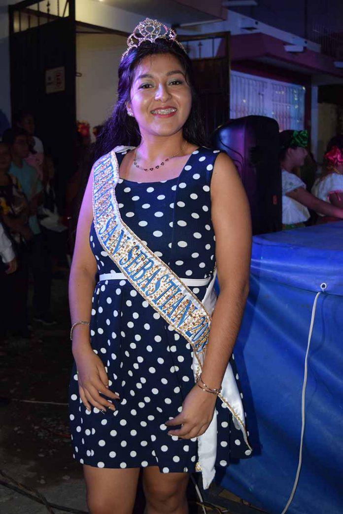 Norma Cristina Ponce Jiménez, reina de la Feria de San Sebastián 2018.