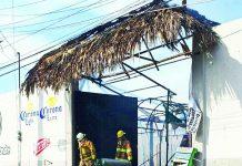 ¡Fuego en el Restaurante bar Guanábanas!