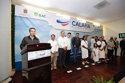 El mandatario destacó el hecho de que hayan nuevos vuelos y empresas que confíen en la entidad, realizando inversiones y trayendo a más turistas en beneficio de las y los chiapanecos.