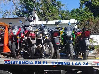 Al Corralón Motocicletas que Circulaban sin Placa