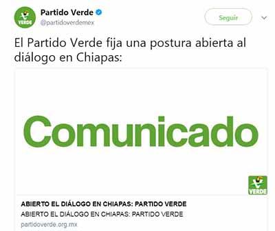 """""""Efervescencia Natural"""", Renuncia de Diputados en Chiapas, Justifica el PVEM Nacional."""
