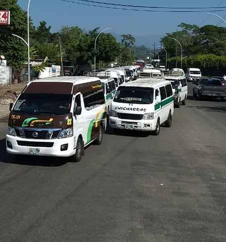 Protestan Transportistas en Tapachula por Desbordamiento de Unidades Piratas
