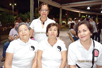 Candy Casillas, Josefina Joo, Gloria Esquinca, Eugenia García.