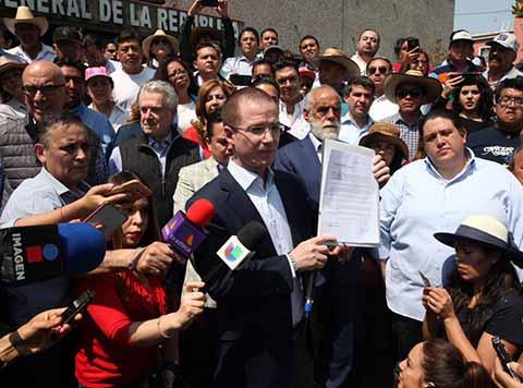 Anaya Rechaza Rendir Declaración Ante la PGR por Caso de Presunto Lavado