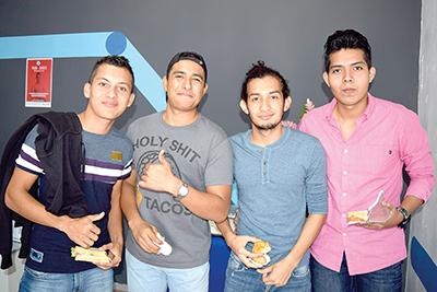 Rubén, Ángel Morales, Yedani Ríos, Raúl Duque.