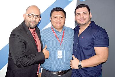 Jorge Valente, Germán López, Paul Muñoz.