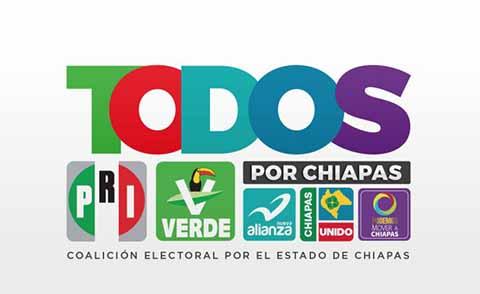 """Sin Acuerdos Coalición """"Todos por Chiapas""""."""