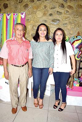Porfirio Hernández, Dulce Hernández, Milvia Rodas.