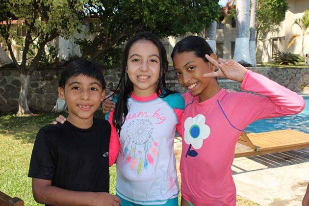 Kaleb, Daniela Guillén, Cinthia Nolasco.