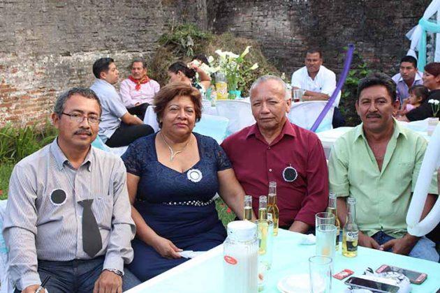 Noé Méndez, Silvia López, Santiago Roque, Abraham Gálvez.