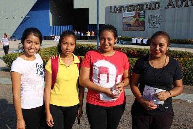 Leticia Velasco, Adasa Flores, Hannia Ibarra, Rosario Roblero.