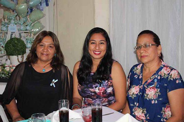 Mariza Solís, Karen Pérez, Nelida Cortés.