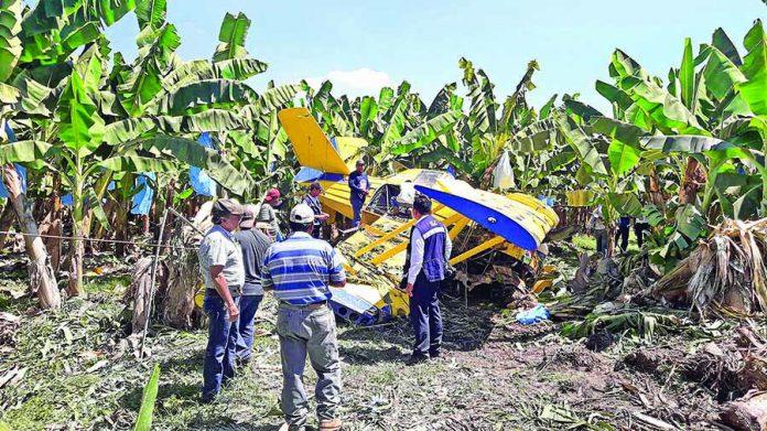 Se Desplomó Avioneta Fumigadora en Mazatán