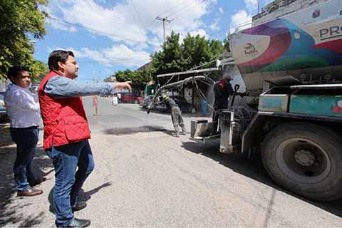 Continúan Trabajos de Mejoramiento Urbano en Tuxtla Gutiérrez