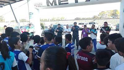 Policía Federal Realiza Torneo Relámpago de Futbol Infantil