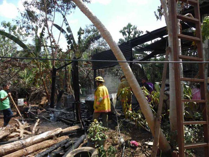 Incendio Acabó con la Cocina de Humilde Hogar