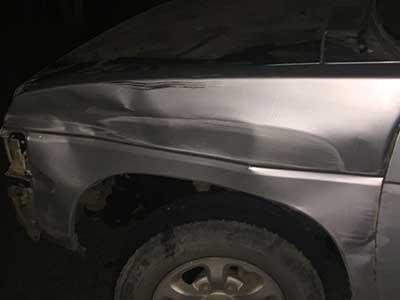 Joven Lesionada en Accidente Automovilístico