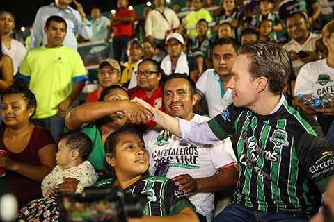 Asiste MVC a Encuentro de Cafetaleros de Tapachula vs Correcaminos de Tamaulipas
