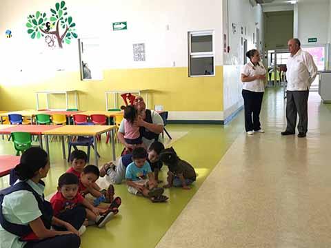 Realiza Rector de la UNACH Recorrido de Supervisión en Estancia Infantil Tapachula