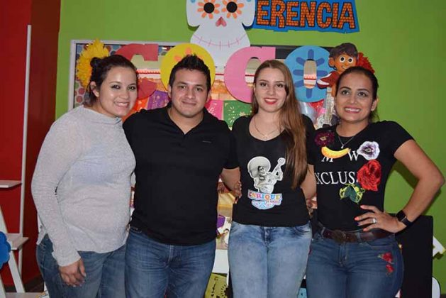 Guadalupe, Miguel Becerra, Claudia Gómez, Fanni Becerra.