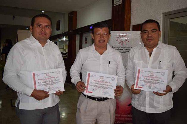 José Rodas, Fidel Moreno, Heriberto Mendoza.