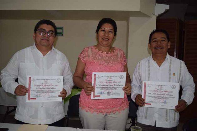 Santiago García, Clementina Manzo, Ramón Ruiz.