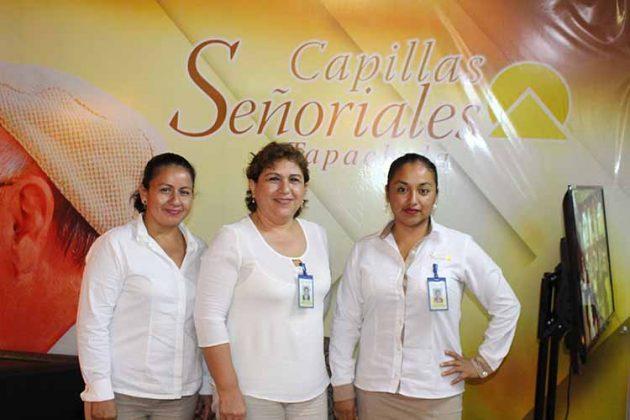 Rosy de León, Edelmira Tirado, Lorena Gálvez: Capillas Señoriales.