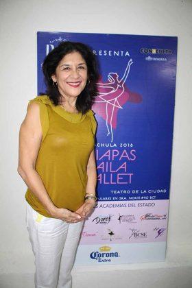 Edith García. Directora del Ballet Clásico de Tapachula.