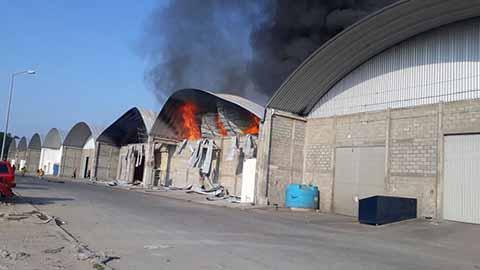 """Incendio en Bodegas del Parque Industrial """"Tamarindos"""""""