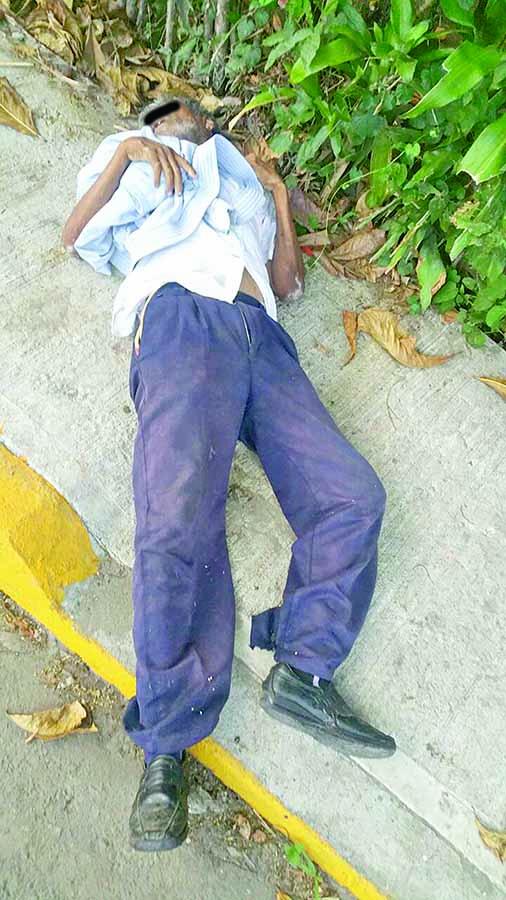 Murió en la Calle