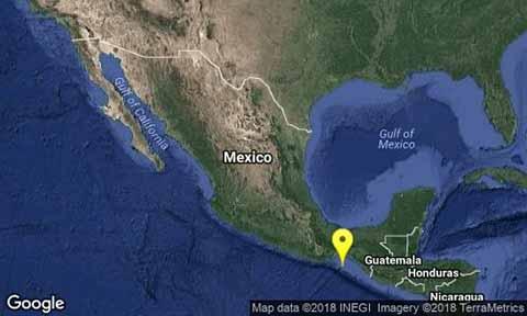 Sacude Sismo de 4.9 Grados Richter la Frontera Entre México Guatemala