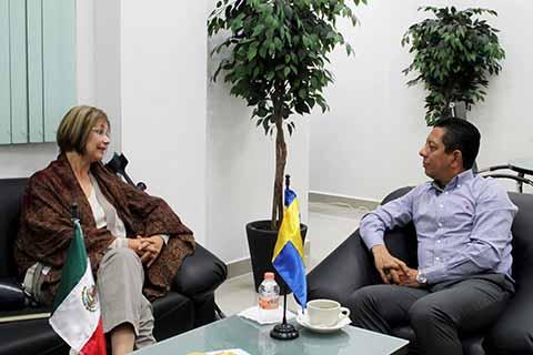 Secretario de Seguridad del Estado se Reúne con Embajadora de Suecia en México