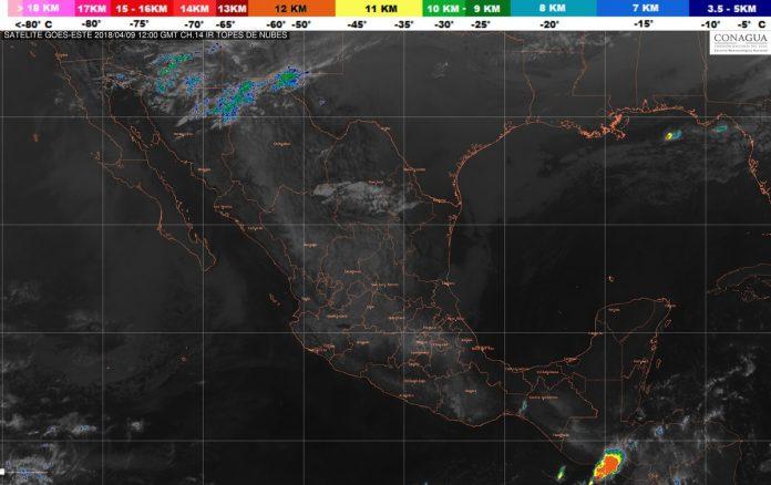 Continúa Pronóstico de Tormentas Fuertes en Veracruz, Puebla, Chiapas y Oaxaca