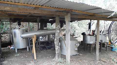 Personal Militar Asegura Laboratorio Clandestino
